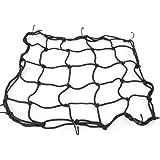 Rupse Filet à Bagages Araignée élastique avec 6 Crochets pour Moto - 40cm * 40cm (Noir)