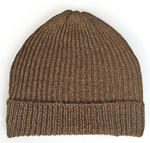 Incredible Natural Creations from Alpaca - INCA Brands Ribbed Stocking Cap - 100% Alpaca Wool - Traditional Fisherman Style For Work or Fashion Unisex Durable All Weather Hat - Brand Fisherman