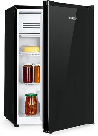 Klarstein Delaware nevera - 76 litros de capacidad, eficiencie energética de clase A++, 2 baldas, congelador de 4 litros, compartimento para botellas de hasta 2 litros, negro: Amazon.es: Hogar