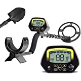 HUKOER Metal Detector MD3030- Lightweight Professional Detectors High sensitivity Underground Treasure Hunter LCD Display Gold and Jewelry Hunting Under Shallow Water Shows the probable type of metal