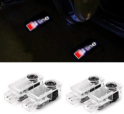 Cool Design 2 Pi/èces Voiture Porte LED Eclairage dEntr/ée Laser Projecteur Courtoisie Bienvenue Lampe Ombre Logo Lumi/ère