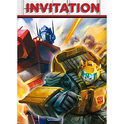 Transformers Party Invitations, 8ct