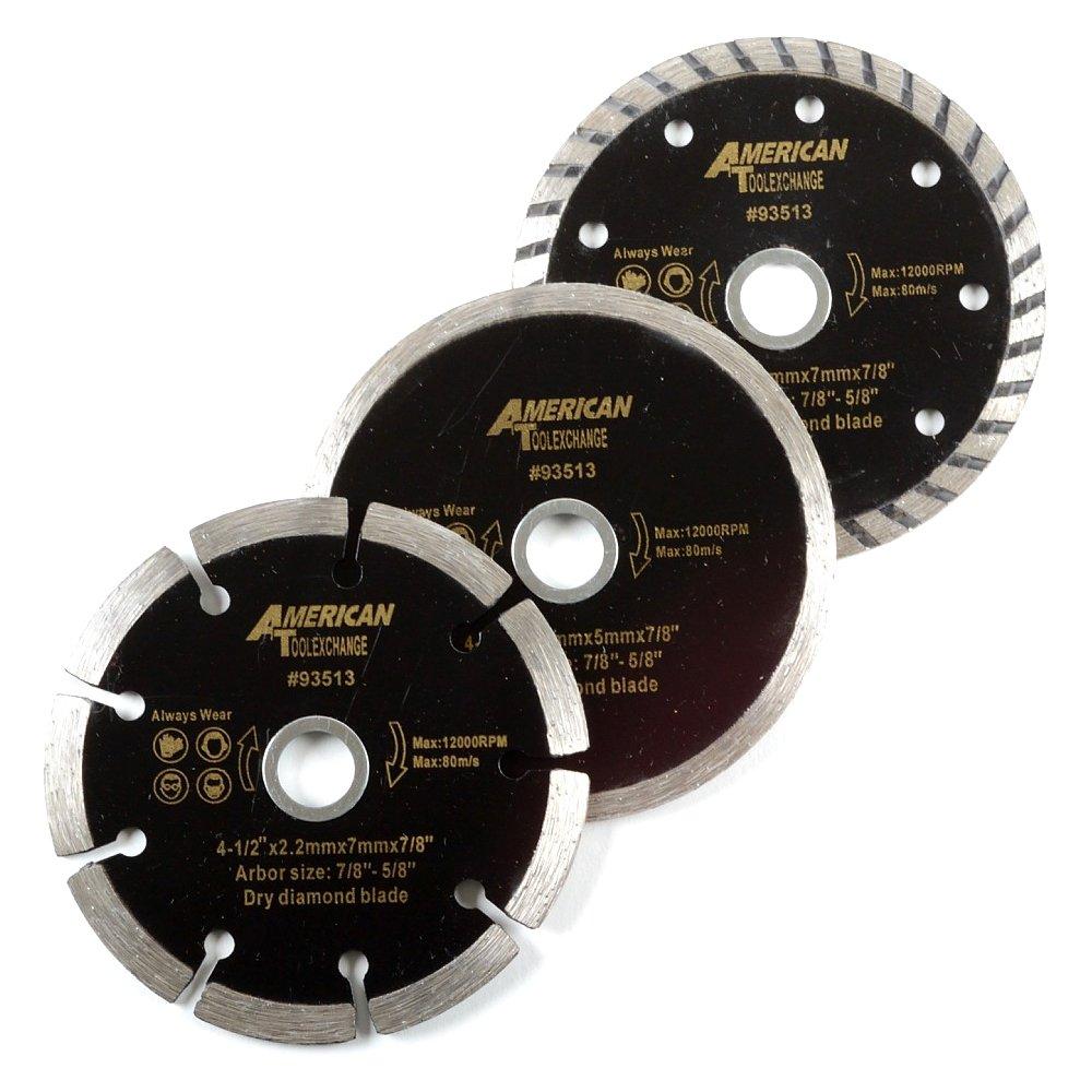 ATE Pro. USA 93513 Wet Dry Turbo Diamond Blade (3 Piece), 4-1/2''