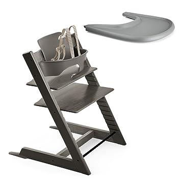 Gentil Amazon Com Stokke Tripp Trapp Chair Hazy Grey With Baby Set