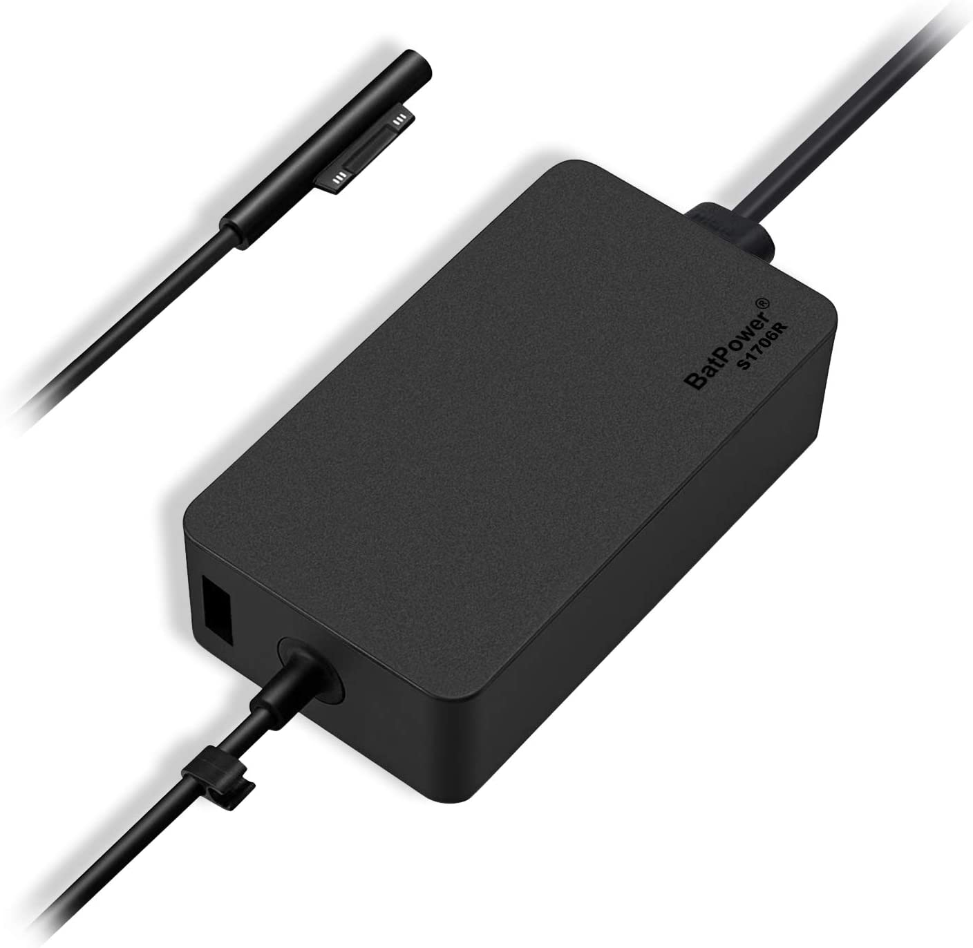 65W Surface Charger, BatPower 65W Power Adapter Surface Laptop, Surface Book, Surface Go and Surfce Pro, for Microsoft Surface Power Supply 65w Ac Adapter 1706 with 5V USB and 6.6ft Surface Power Cord