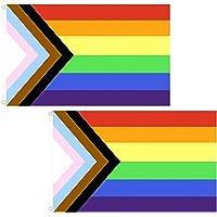2 stuks regenboogvlaggen, waterdichte LGBT Pride vlag, lesbische gay-vlag voor tuindecoratie