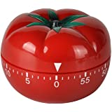 Jayron JR-WG017 Kitchen Cooking Timer Tomato Cartoon Mechanical Countdown Hour Meter for Cooking Homework Baking Learning