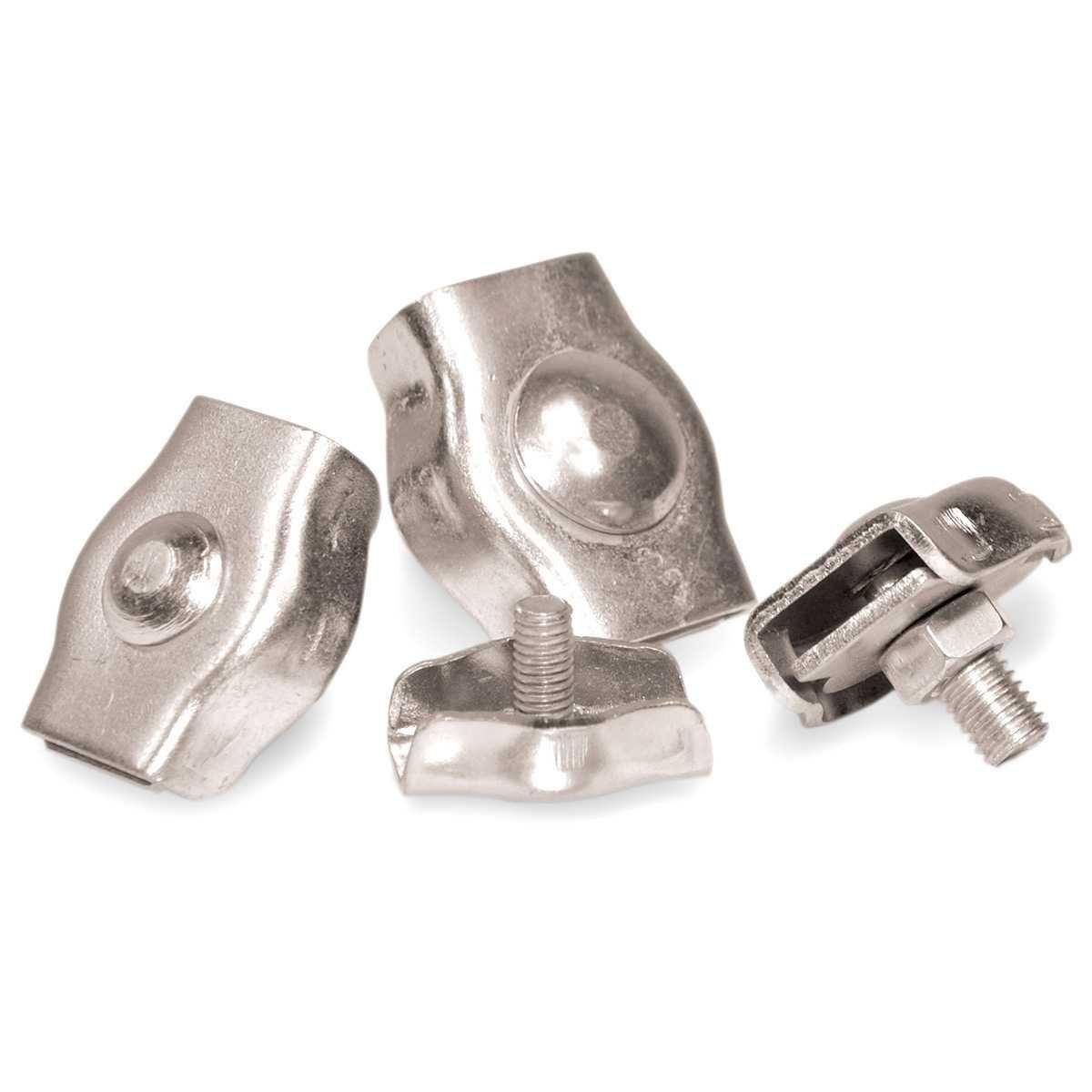 Serre-c/âble pour les Cordes Corde d/'Acier Zingu/é C/âble en acier werk STANKE 10x Serre-c/âble de Selle Simple 5mm Serre-c/âble