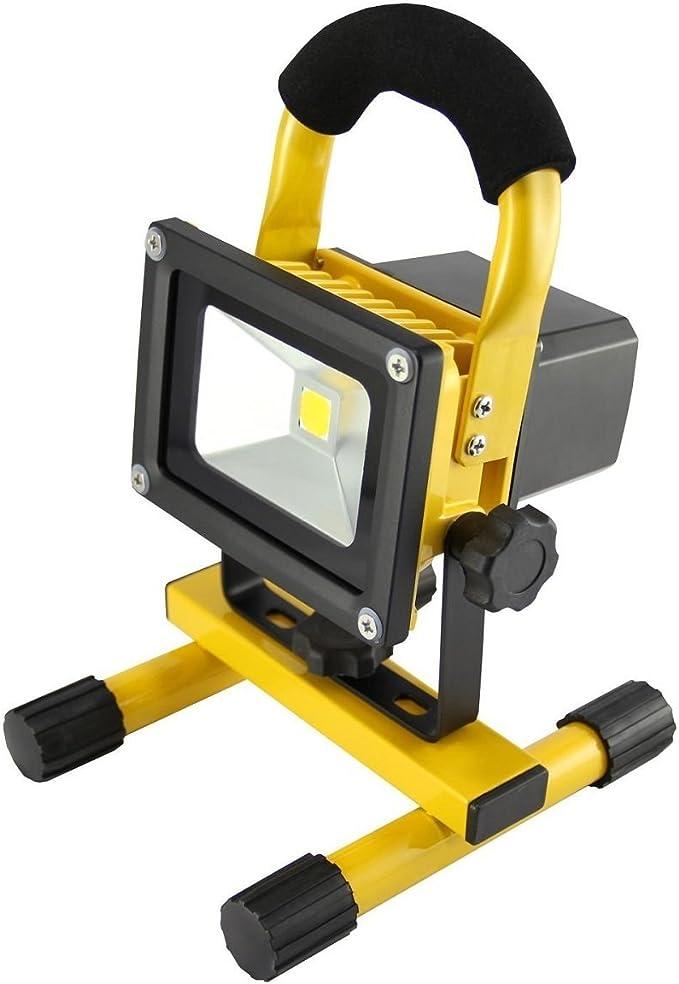 MCTECH 10W blanco cálido amarillo lámpara de mano BATERÍA LED ...