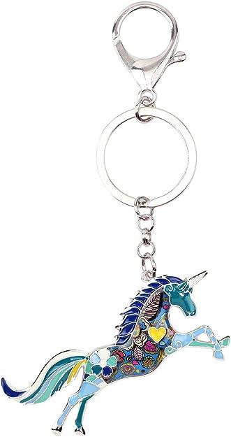 A Beautiful Diamante Horse Keyring Charm Pendant Purse Bag Key Ring Chain Keychain Gifts