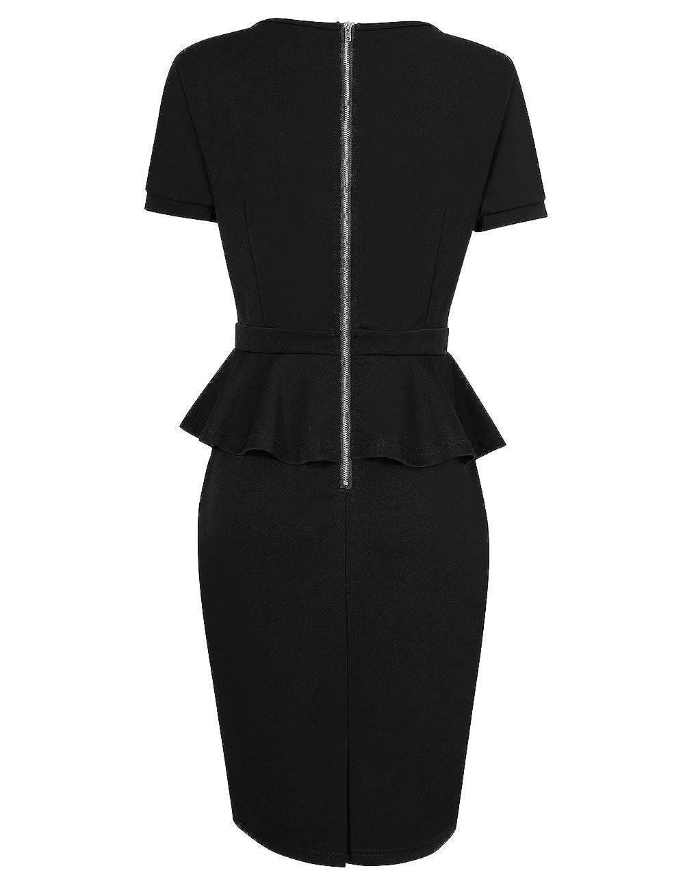 507b0b24c81 Zehui Women s 3 4 Sleeve Maxi Dress Long Babydoll Casual with  Pockets