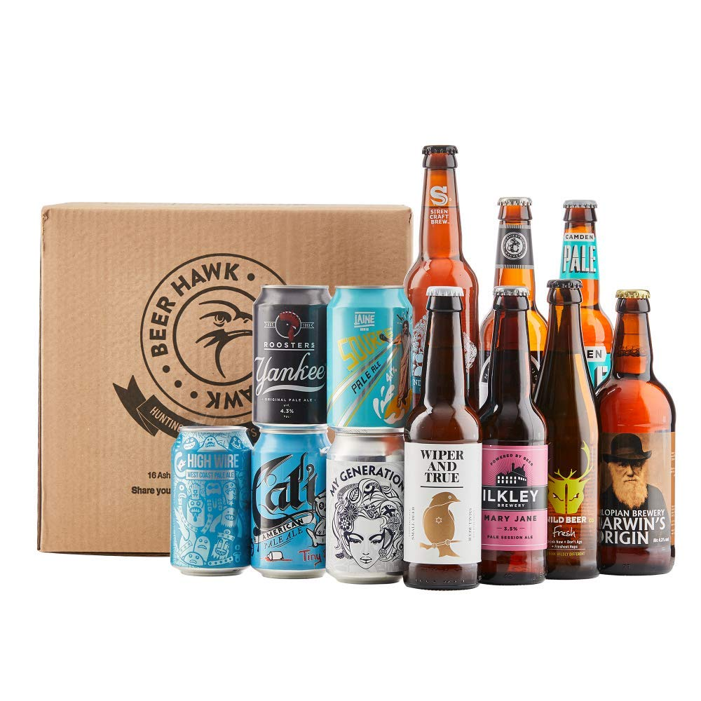 Beer Hawk British Pale Ale Craft Beer Selection - 12 Beer Mixed Case Gift  Set  Amazon.co.uk  Grocery b6516688d