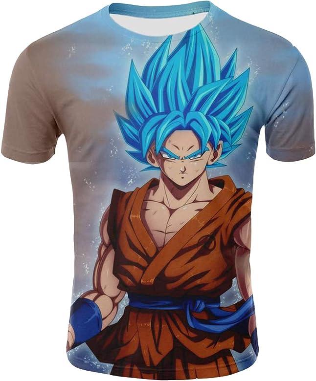 Camiseta Dragon Ball Niño 3D Impresión Unisex Hombres Mujer Camisetas y Camisas Deportivas Camisetas de Manga Corta T Shirt Dibujos Animados de Fans Streetwear Camisetas de Verano (TX-QLZ-0392, S): Amazon.es: Ropa y