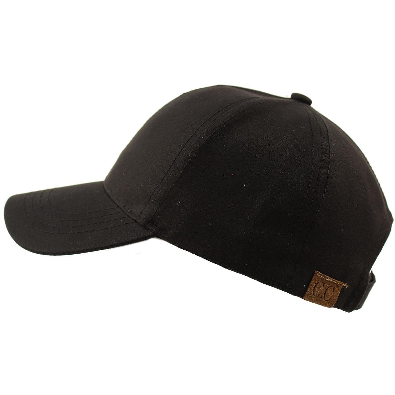 68074734736 CC BEANIE Everyday Unisex Light Plain Blank Baseball Sun Visor Solid Cap  Dad Hat Black at Amazon Men s Clothing store