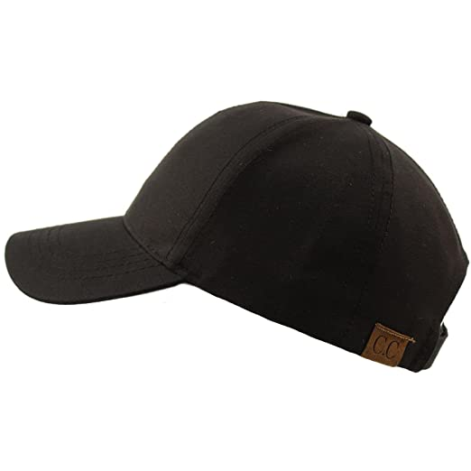 a619324787f76 CC BEANIE Everyday Unisex Light Plain Blank Baseball Sun Visor Solid Cap  Dad Hat Black
