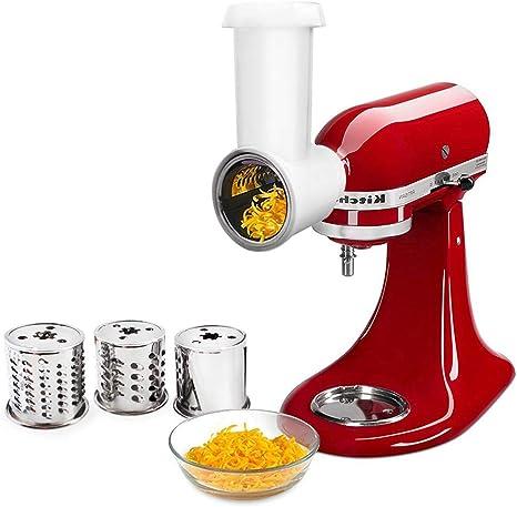 White Fresh Prep Slicer Shredder Attachment Compatible With Kitchenaid Stand Mixer Amazon Ca Home Kitchen