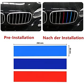 Tuqiang Grille M Sport Stripe 3 Color Decal Vinyl Sticker