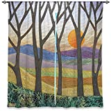 Window Curtains Lined from DiaNoche Designs Unique, Decorative, Funky, Cool by Jennifer Baird - Sunset Over the Hills