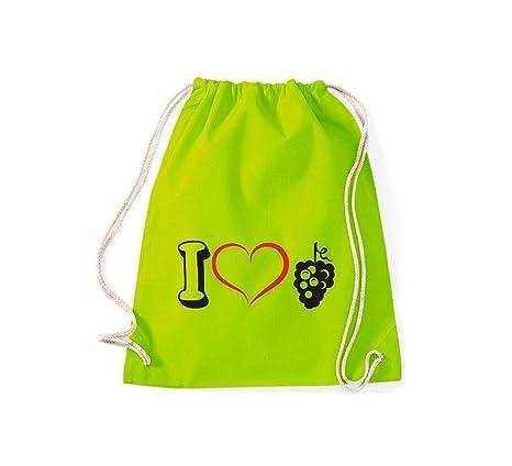 Camiseta stown Turn Bolsa Fruta I Love Vino uva Uvas, lima ...