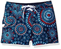 Kanu Surf Girls' Little Melanie Boardshort, Red/White/Blue, Medium (5)