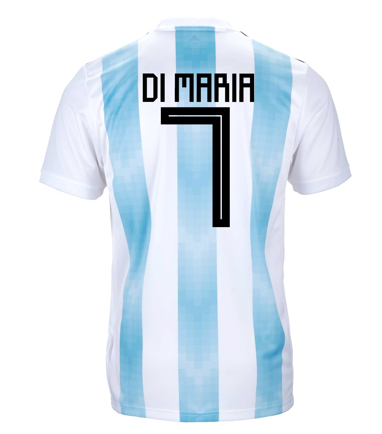Adidas Di Maria #7 Argentina Official Youth Home Soccer Jersey World Cup Russia 2018 (XL)