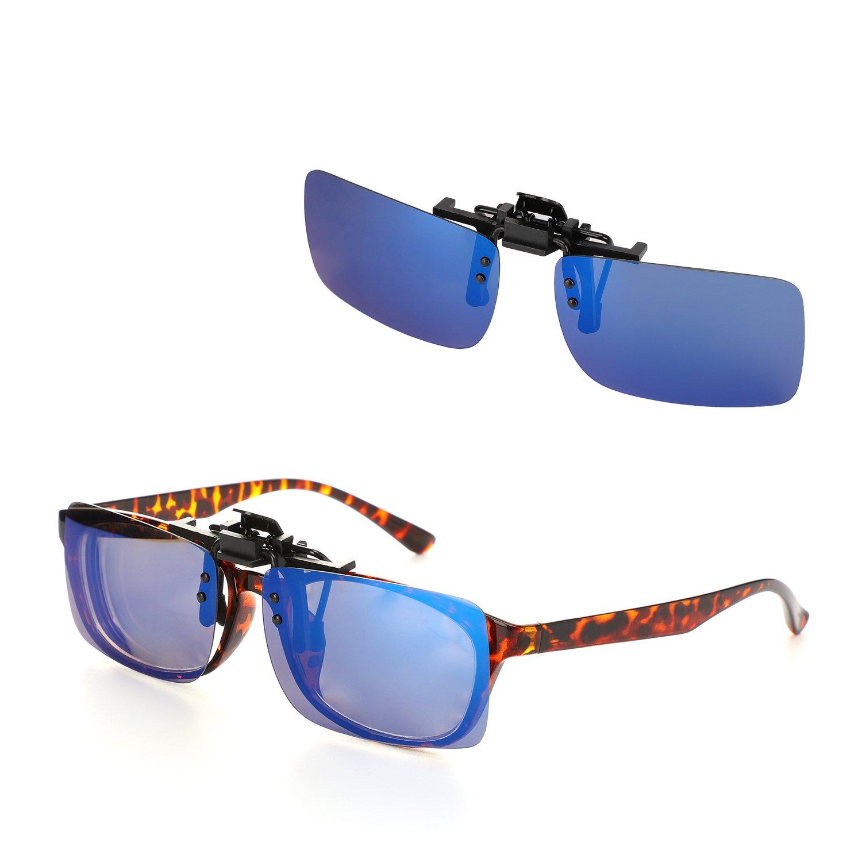 Hifot Clip Gafas de Sol polarizadas Lentes 2 Piezas, Flip up ...