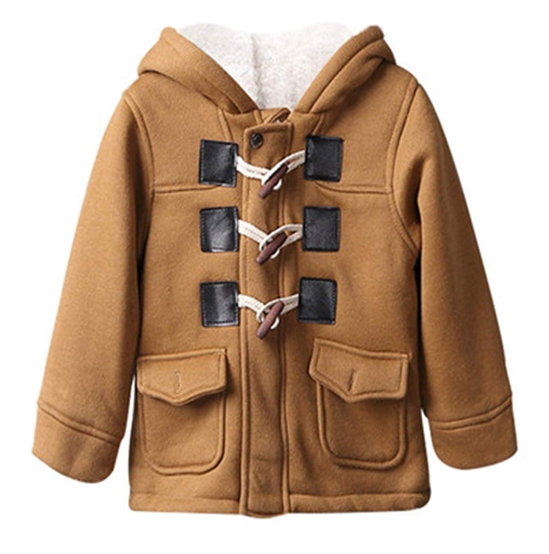 Melissa Wilde Baby Boys Spring Winter Warm Outerwear Thicken Hooded Faux Leather Fleece Jacket