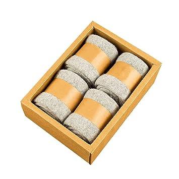 YILIAN wazi Calcetines cálidos de Invierno de Mujer Calcetines de Lana Gruesa Informal Suave 4 Piezas (Color : Gray): Amazon.es: Deportes y aire libre