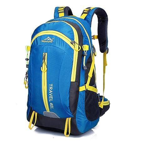 Bolso al aire libre del alpinismo que monta los deportes mochila viaje impermeable doble bolsa de