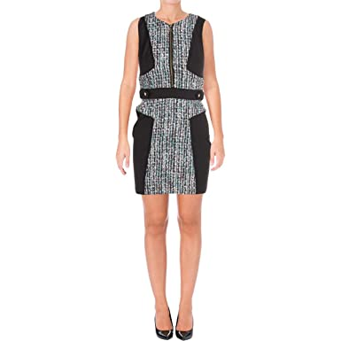 Amazon.com  Juicy Couture Black Label Womens Tweed Mini Cocktail Dress  Black 0  Clothing 9b3f5b8ce