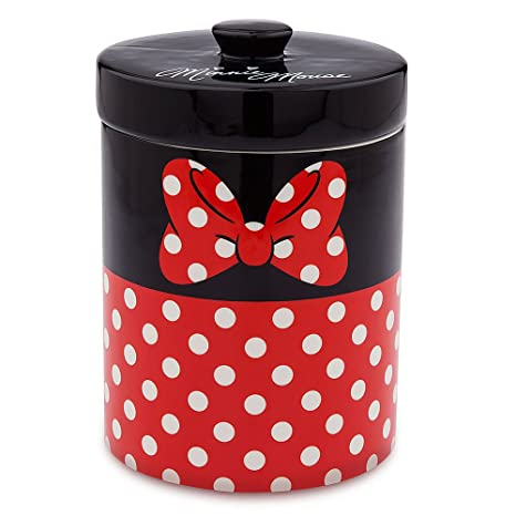 Incroyable Disney Minnie Mouse Ceramic Kitchen Canister Red
