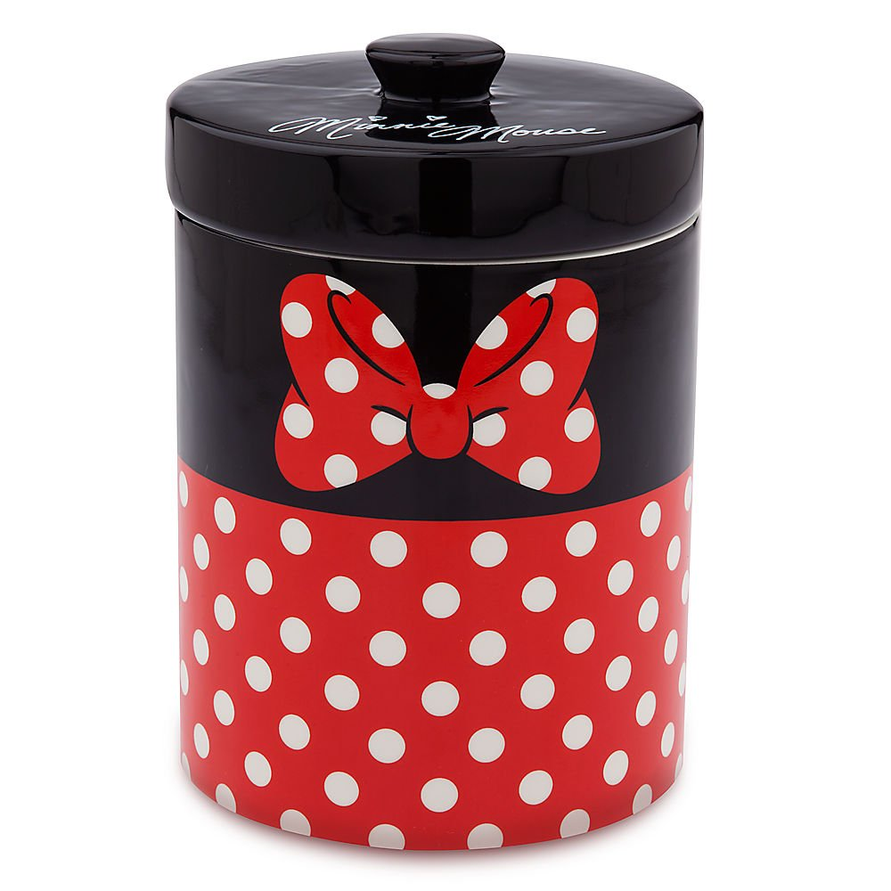 Disney Minnie Mouse Ceramic Kitchen Canister Red by Disney
