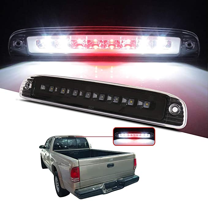 3rd Brake Light High Mount Brake Light 5056203AH//55056203A //55056203AB//55056203 LED Rear Light Chrome+Clear Lens Fit for 97-07 Dodge Dakota Fits Models with Cargo Lights Only