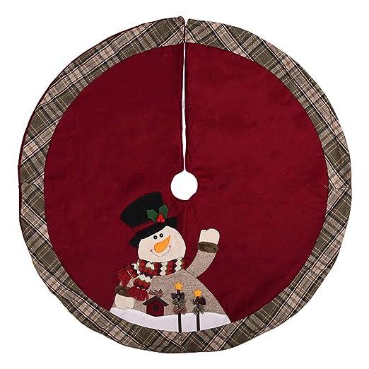 Da.Wa 1X 105cm Falda de Arbol de Navidad Manta Decorativa para pie ...