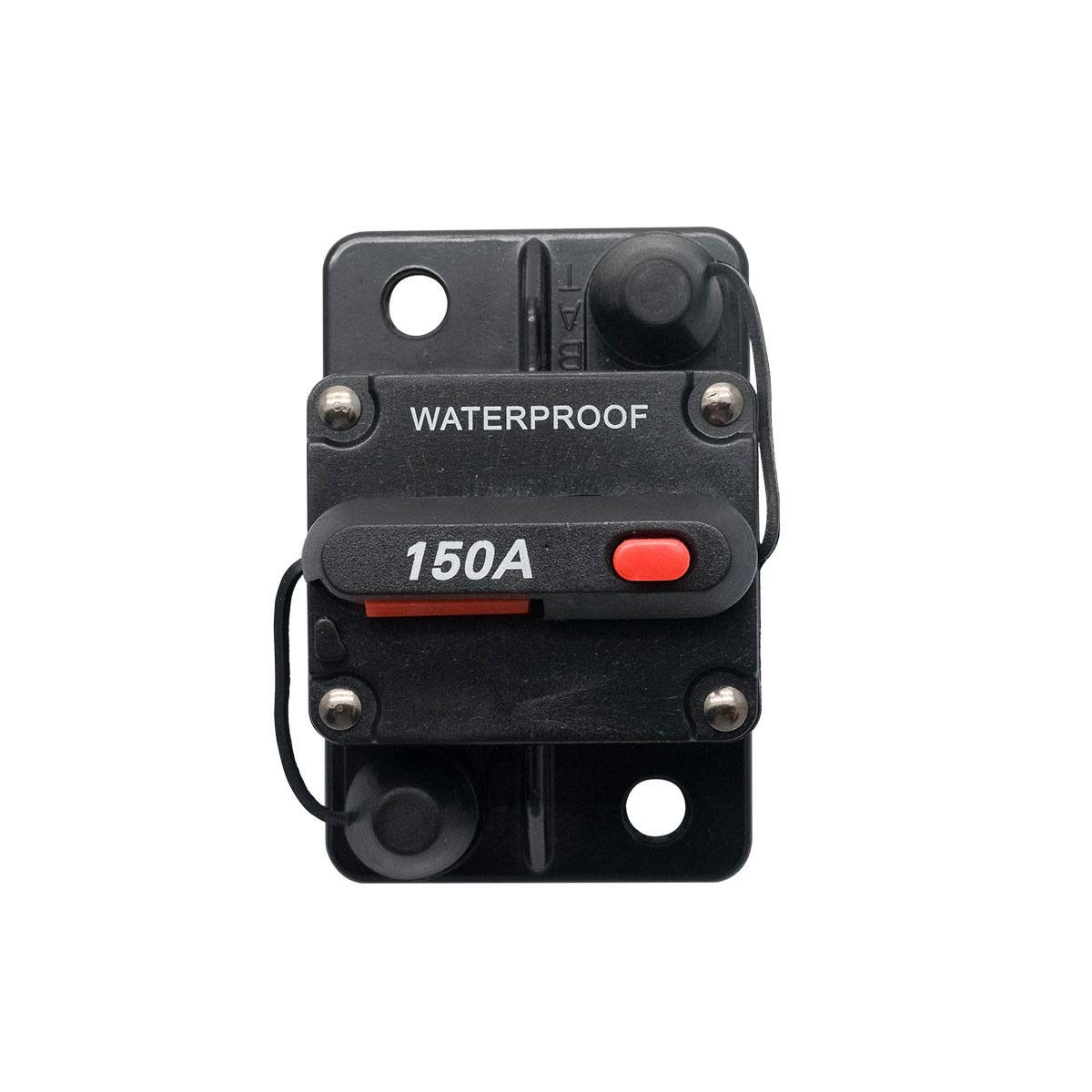 MASO 60 Amp Waterproof Circuit Breaker with Manual Reset Suitable for Motor Auto Car Marine Boat Bike Stereo Audio 12V-24V DC
