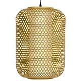Oriental Furniture 20'' Taka Japanese Bamboo Hanging Lantern