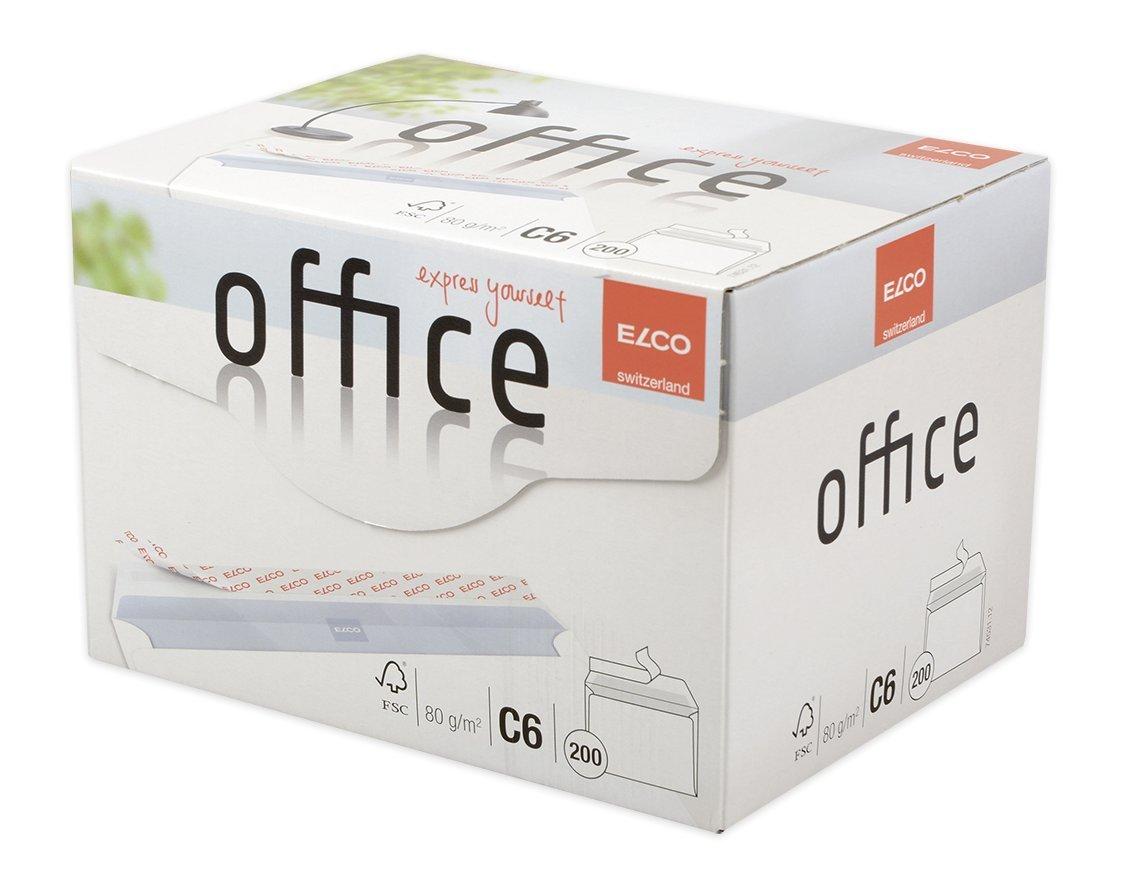 114 x 162 mm C6 Sobre Elco Office C6 Color blanco , Color blanco, 114 mm, 16,2 cm