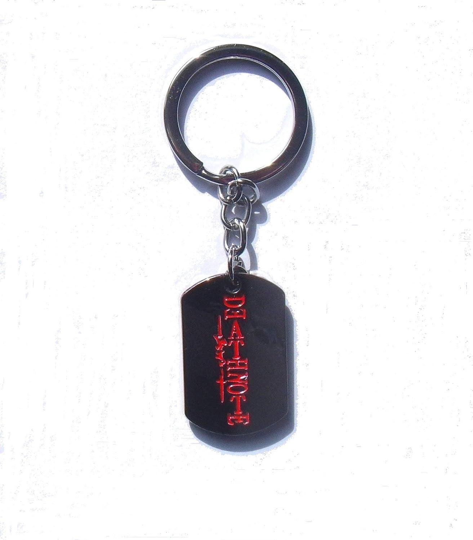 Death Note Llavero de Metal Dog Tag Logo & L Lawliet Light ...