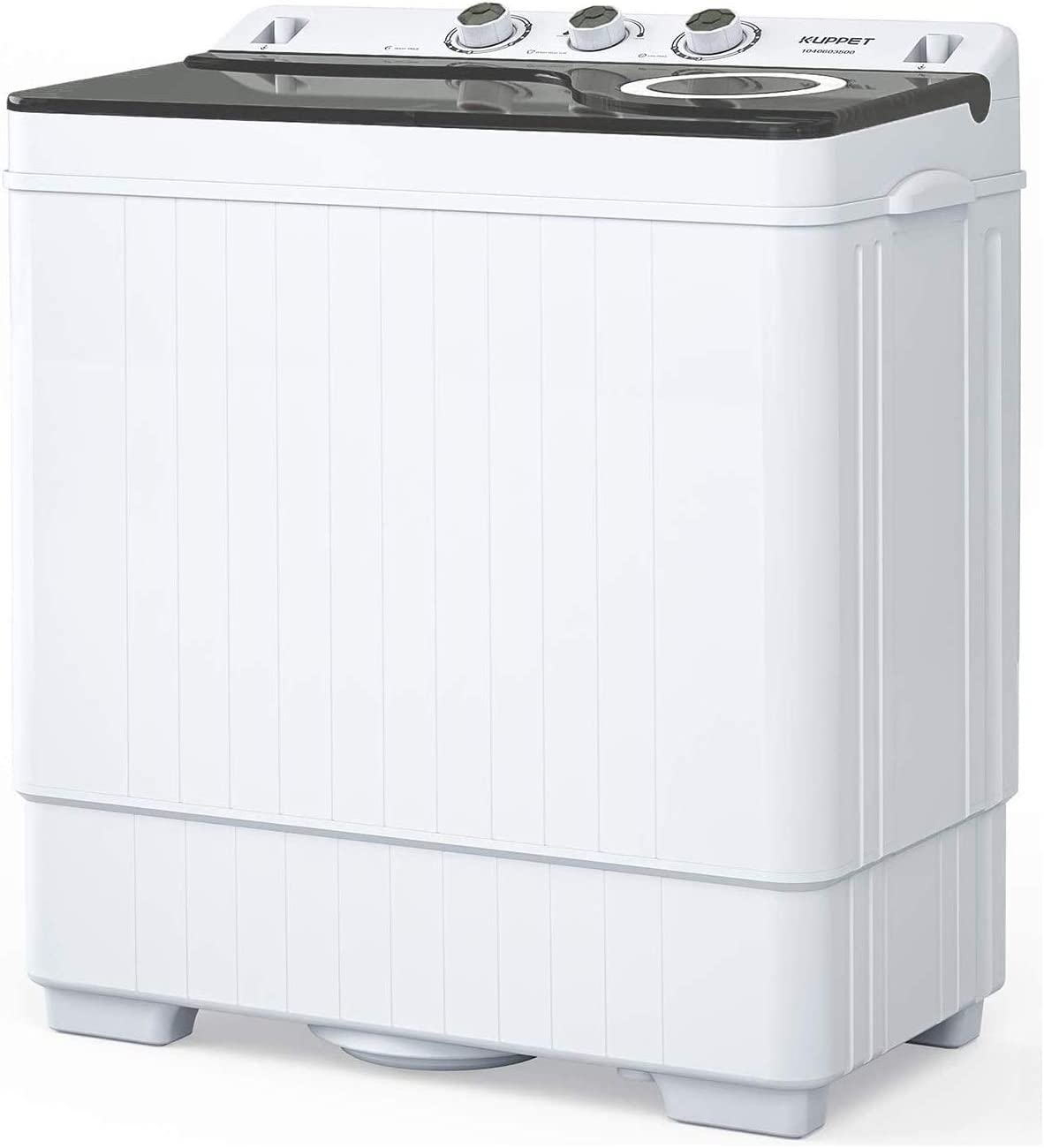Best For Glass Top And Semi-Automatic: KUPPET Compact Twin Tub Portable Mini Washing machine.