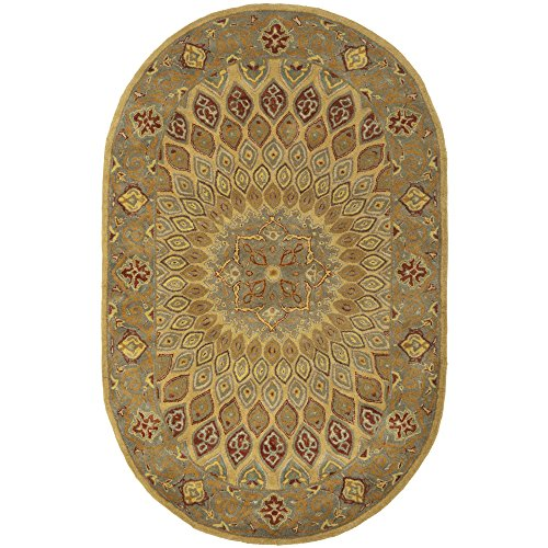 Safavieh Heritage Collection HG914A Handcrafted Traditional Oriental Light Brown and Grey Wool Runner 2 3 x 6