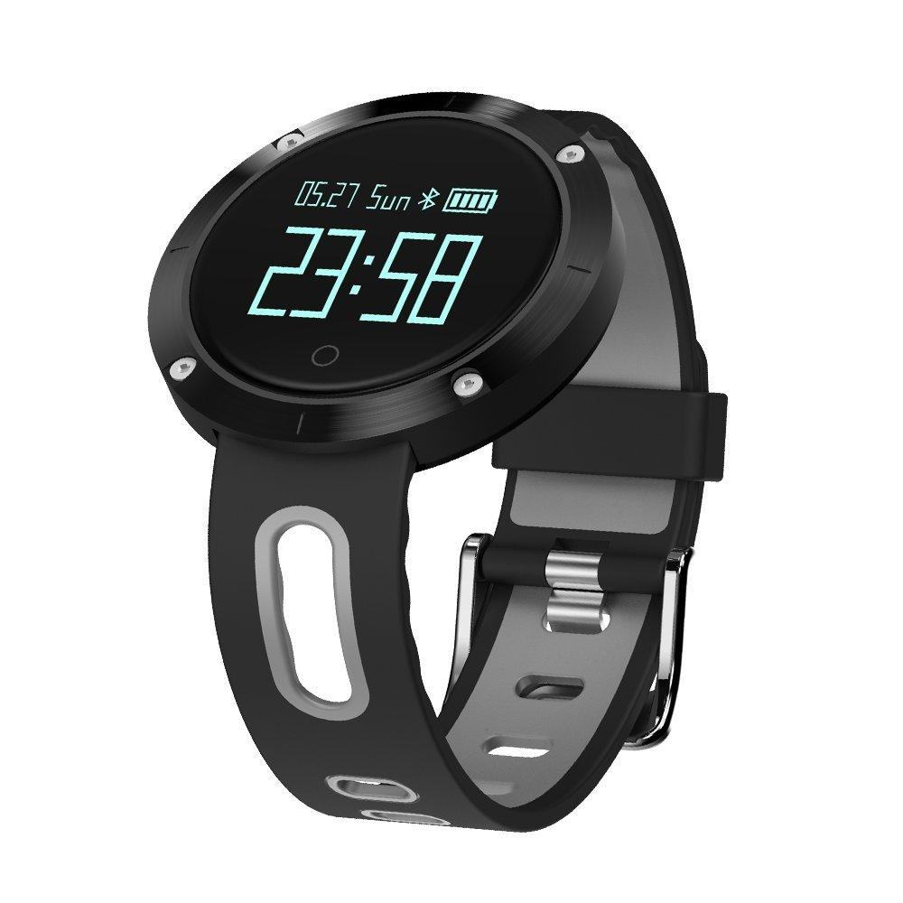 Smart Pulsera Deportes Bluetooth Paso Contador De Presión Arterial Sueño Monitor Impermeable De Dos Colores Correa: Amazon.es: Coche y moto