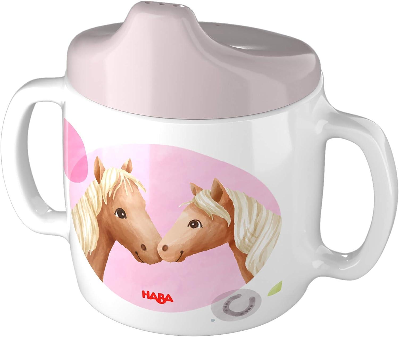 HABA 305696 - Taza para aprender a beber, diseño de caballos, a partir de 2 años