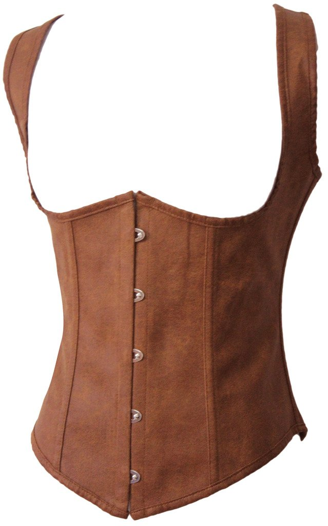 Alivila.Y Fashion Womens Faux Leather Underbust Steel Boned Corset Waist Cincher 3