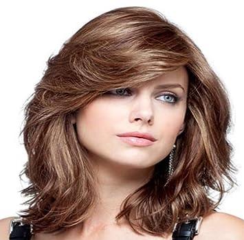 F & Hy & L Perücke lange lockiges Haar in Europa und hohe Temperatur ...