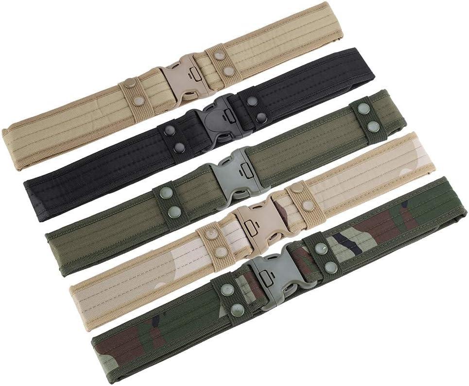 Alomejor Cintur/ón t/áctico Unisex Tela Oxford Supervivencia Cintur/ón Cintur/ón Entrenamiento de Rescate de Emergencia Correa de cintur/ón de Combate para Caza Exterior Senderismo