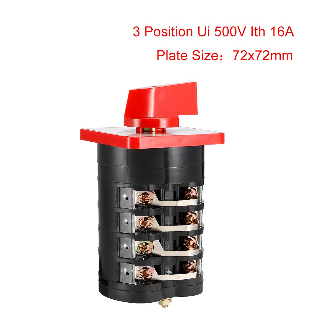 Sourcingmap/® Interruptor de Cambio de Leva 660V 63A 12 Fase 3 Terminal de Tornillo rotativo Selector