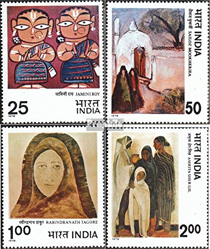 India 755-758 (complete.issue.) 1978 Paintings (Stamps for collectors) (Stamp 1978 Paintings)