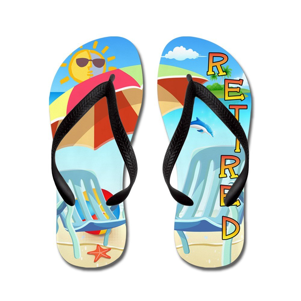 CafePress Tropical Retirement - Flip Flops, Funny Thong Sandals, Beach Sandals