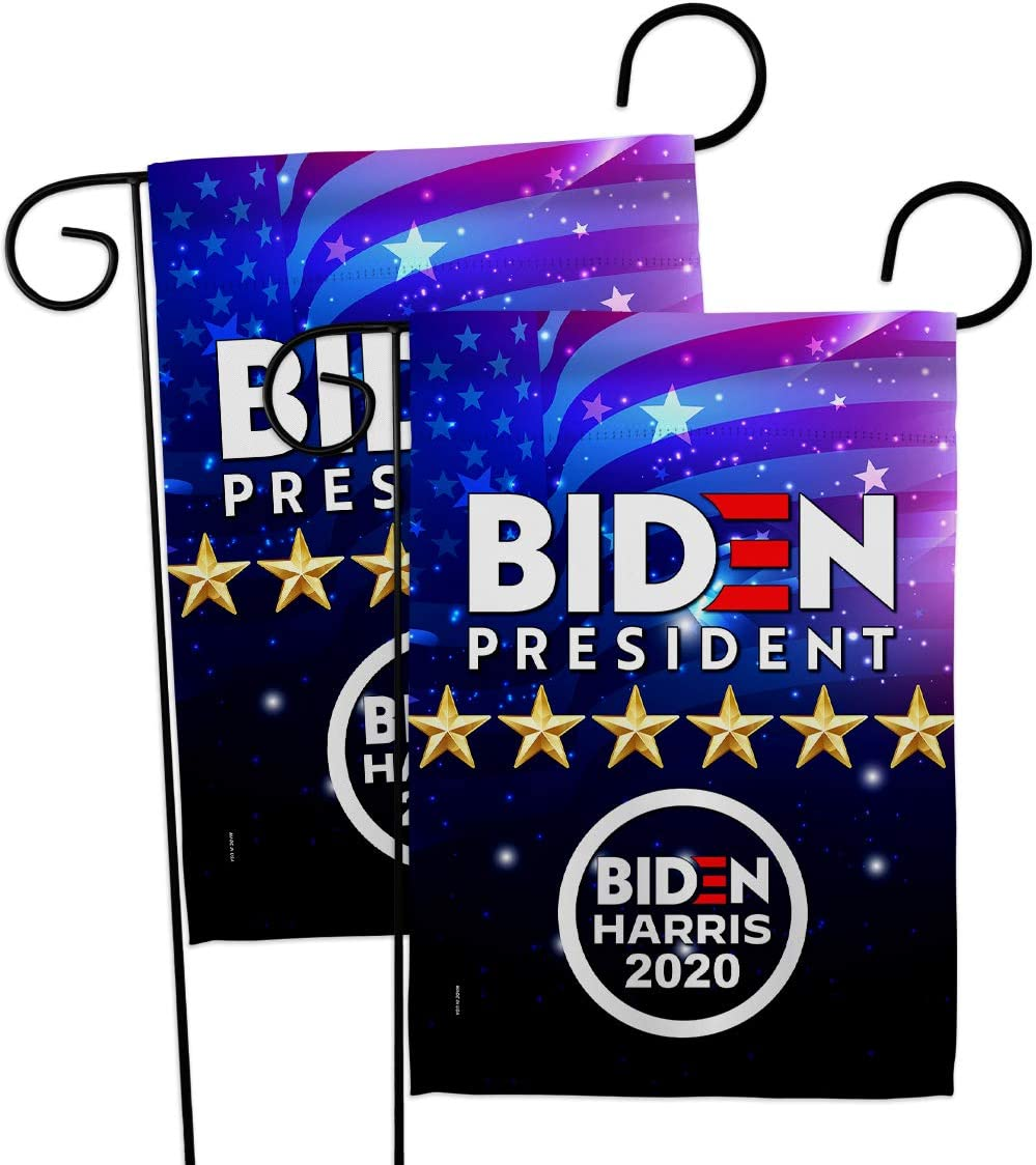 Biden Harris Flag President Vote Garden Flag 2pcs Pack Patriotic Democrat Republican Tea Party United State American Election House Banner Small Yard Gift Double-Sided, 13