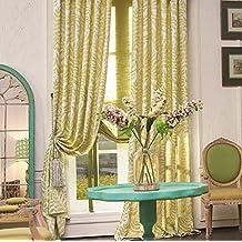 "IYUEGOU Classic Print Cotton Multi Floral Energy Saving Grommet Top Curtain Draps 72"" W x 96"" L (One Panel)"
